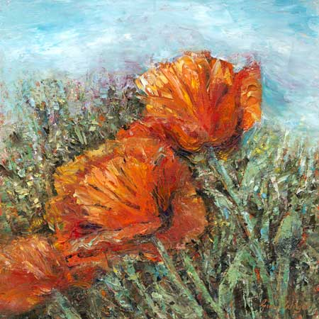 Artists Poppies, Oil