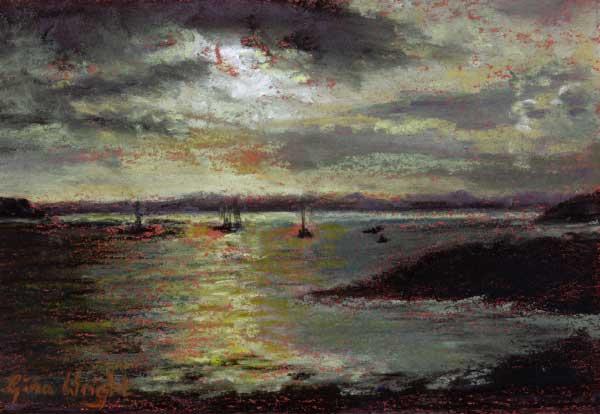 Study for Evening Light, Pastel